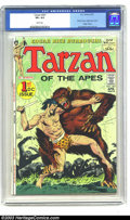 Bronze Age (1970-1979):Miscellaneous, Tarzan Group (Dell 1955, DC 1972). This lot consists of Dell GiantTarzan's Jungle Annual #4 (CGC VF- 7.5 Off-white page... (Total: 3Comic Books Item)