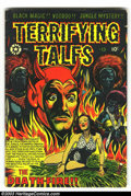 Golden Age (1938-1955):Horror, Terrifying Tales #13 (Star Publications, 1953) Condition: VG-.Classic L.B. Cole devil cover. Overstreet 2003 VG value $110....