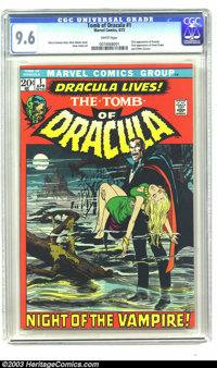 Tomb of Dracula #1 (Marvel, 1972) CGC NM+ 9.6 White pages. Neal Adams cover. Gene Colan art. First appearance Dracula. F...