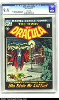 Bronze Age (1970-1979):Horror, Tomb of Dracula #2 (Marvel, 1972) CGC NM 9.4 White pages. John Severin cover. Gene Colan and Vince Colletta art. This is cur...