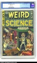 Golden Age (1938-1955):Horror, Weird Science 15 (#4) (EC, 1950) CGC FN- 5.5 Off-white to whitepages. War of the Worlds story. Al Feldstein cover. Harv...