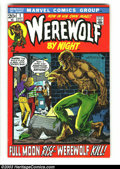 Bronze Age (1970-1979):Horror, Werewolf by Night #1 (Marvel, 1972) Condition: FN. Mike Ploog didthe cover and artwork in this issue that was a continuatio...