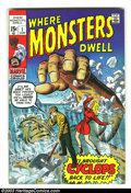 Silver Age (1956-1969):Horror, Where Monsters Dwell Group (Marvel, 1970) Condition: Average VF-.This group contains issues #1, 2, and 4. Overstreet 2003 v...(Total: 3 Comic Books Item)