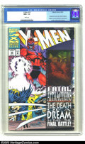 Modern Age (1980-Present):Superhero, X-Men #25 (Marvel, 1993) CGC NM+ 9.6 White pages. Wraparound cover with Gambit hologram. Magneto removes Wolverine's adamant...