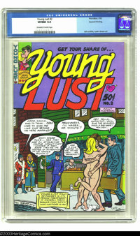 Young Lust #2 (Print Mint, 1972) CGC VF/NM 9.0 Off-white to white pages. Art by Bill Griffith and Justin Green. This com...