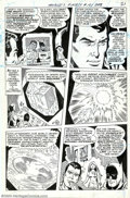 Original Comic Art:Panel Pages, Ross Andru and Mike Esposito - Original Art for World's Finest #181, page 16 (DC, 1968). Superman gives Batman a brief histo...