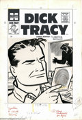Original Comic Art:Covers, Al Avison (attributed) Original Cover Art for Dick Tracy #94(Harvey, 1950s). Tracy takes a look at the latest in fingerprin...