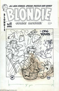 Original Comic Art:Covers, Al Avison (attributed) - Original Cover Art for Blondie #41(Harvey, 1950s). Sewing is supposed to be relaxing... or is it? ...