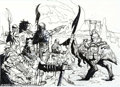 Original Comic Art:Sketches, Simon Bisley Original Science Fiction Illustration (undated). Nice Star Wars-esque pen-and-marker illustration by the in...