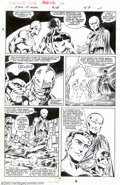 Original Comic Art:Panel Pages, Mark Bright and Mike Gustovich - Original Art for Fantastic Four Annual #18, page 38 (Marvel, 1985). The Watcher, Captain Ma...