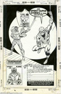Original Comic Art:Splash Pages, Sal Buscema - Original Ad Illustration for Spidey Super Stories #30(Marvel, 1977). This is a subscription page for Spidey...