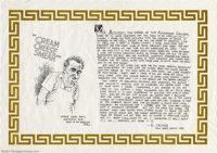 "Robert Crumb - Original Illustration ""Cream Cheese Smear"" (1993). In 1993, gallery owner Alex Acevedo mounted..."