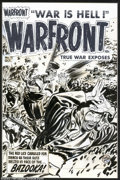 "Original Comic Art:Covers, Lee Elias - Original Cover Art for Warfront #11 (Harvey, 1950s).The text box says it all: ""The Red Lice crawled for mercy a..."