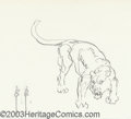 Original Comic Art:Sketches, Frank Frazetta - Original Illustration, Lioness (undated). A tiny but very expressive sketch of a powerful lioness by the on...