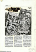 Original Comic Art:Miscellaneous, Production Art - Contents Page for Witches Tales #12 (All Stats)(Harvey, 1952). Production art used for the contents page o...
