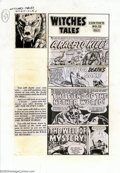 Original Comic Art:Miscellaneous, Production Art - Contents Page for Witches Tales #15 (All Stats)(Harvey, 1952). Production art used for the contents page o...