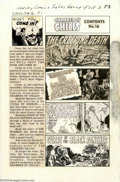 Original Comic Art:Miscellaneous, Production Art - Contents Page for Chamber of Chills #16 (AllStats) (Harvey, 1953). Production art used for the contents pa...