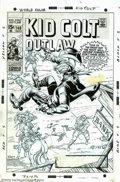 "Original Comic Art:Covers, Herb Trimpe - Original Cover Art for Kid Colt Outlaw (Marvel,1969). Here's the shoot-out the West will never forget... ""Fur..."