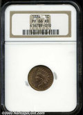 Proof Indian Cents: , 1884 PR 66 Red NGC. ...
