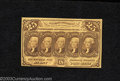 Fractional Currency:First Issue, First Issue 25c, Fr-1281, CU. This straight edge with ...