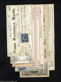 Miscellaneous:Checks, Seven Checks and an Invoice, 1865-99. All eight items have a ... (8items)