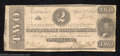 Confederate Notes:1863 Issues, 1863 $2 Judah P. Benjamin, T-61, Fine....