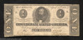 Confederate Notes:1863 Issues, 1863 $1 Clement C. Clay, T-62, Fine. A few small holes and a ...