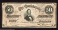 Confederate Notes:1864 Issues, 1864 $50 Portrait of Jefferson Davis; Black with Reddish ...
