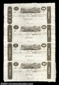 Obsoletes By State:Ohio, Uncut Sheet $5-$3-$2-$1 Post Notes, Cincinnati, OH, Crisp ...