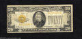 Small Size:Gold Certificates, 1928 $20 Gold Certificate, Fr-2402, Fine. Although well ...