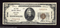 National Bank Notes:Maine, Bath , ME - $20 1929 Ty. 1 The First NB Ch. # 2743