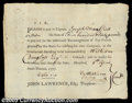 Oliver Ellsworth - Signed Paynote Oliver Ellsworth was a Revolutionary War patriot who later served as Chief Justice of...