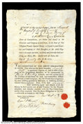 Revolutionary War Financial Document - January 22, 1777 A bond undertaken by Samuel Hoyt and Divian Berry in the amount...