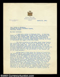 Stocks and Bonds:Certificates with Significant Autographs, Franklin D. Roosevelt - Typed Letter Signed