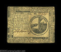 Colonial Notes:Continental Congress Issues, Continental Currency May 10, 1775 $2 Extremely Fine. A ...