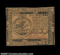 Colonial Notes:Continental Congress Issues, Continental Currency May 10, 1775 $5 About New. A lovely ...