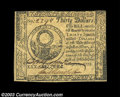 Colonial Notes:Continental Congress Issues, Continental Currency May 10, 1775 $30 Very Choice New. A ...