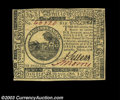 Colonial Notes:Continental Congress Issues, Continental Currency July 22, 1776 $6 Gem New. A ...