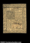 Colonial Notes:Delaware, Delaware January 1, 1776 6s New. Tightly margined and with ...