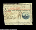Colonial Notes:Georgia, Georgia 1776 $4 Choice Very Fine. Trimmed into the border ...