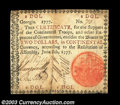 Colonial Notes:Georgia, Georgia June 8, 1777 $2 Very Fine. There are a few very ...