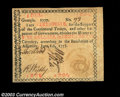 Colonial Notes:Georgia, Georgia June 8, 1777 $5 About New. One of the highest-...
