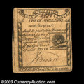 Colonial Notes:Massachusetts, Massachusetts 1779 3s6d Choice Very Fine. A clean, ...