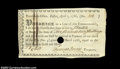 Colonial Notes:Massachusetts, Massachusetts Fiscal Paper April 1, 1786. A nice high ...