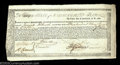 Colonial Notes:Massachusetts, Incredible Commodity Bond. Listed as MA 20 in the Anderson ...