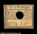 Colonial Notes:New Hampshire, New Hampshire April 29, 1780 $20 Choice New. Canceled with ...