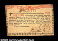 Colonial Notes:New York, New York August 25, 1774 1s New. There is a natural thin ...