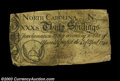 Colonial Notes:North Carolina, North Carolina April 4, 1748 30s Fine, damaged. The text ...