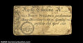 Colonial Notes:North Carolina, North Carolina April 4, 1748 40s Very Fine, damaged. ...