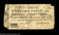 Colonial Notes:North Carolina, North Carolina March 9, 1754 26s8d Very Fine. This oddly ...